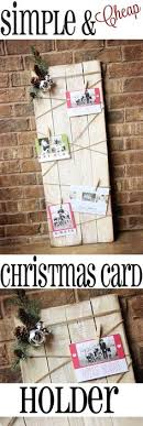 Free Standing Christmas Card Holder Display 100 Creative Ways To Display Holiday Cards Card Displays Photo 64