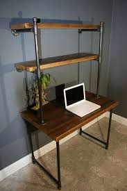 computer desk w storage shelves reclaimed wood in lower manhattan new york