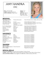 Talent Resume Template Magnificent Fresh 48 Nice Actor Resume Templates Free Design Template Acting