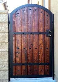 wooden gates designs wood iron combination gate design pictures fence free diy