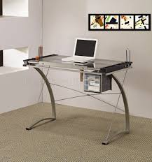 office desk glass. Glass And Metal Furniture. Desk Office Table Top Base Modern Drafting Home C