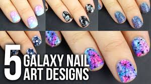5 EASY Galaxy Nail Art Designs DIY Tutorial || KELLI MARISSA - YouTube