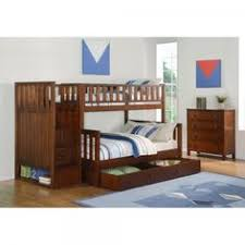 WCC Furniture Lafayette LA Cappuccino Twin Full Bunk Bed