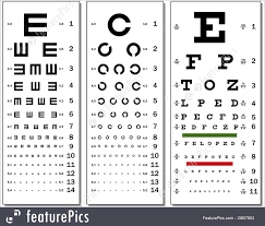 Optometry Eye Test Chart Stock Illustration I3607903 At