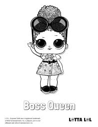 Boss Queen Coloring Page Lotta Lol Coloring Pages Coloring Pages