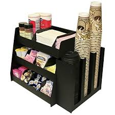 office coffee station. 2 Piece Combo Coffee Condiment Organizer And A 3 Column Cup Lid Holder...for One Great Price ! Very Professional Program Presentation. Office Station E