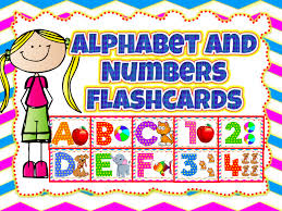 Colorful Alphabet And Numbers Flashcards 74 Flashcards