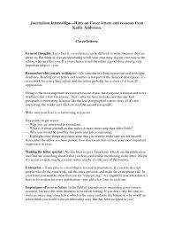 Resume Cover Letter Journalism Jobsxs Com