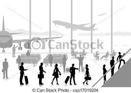 ラウンジ 空港 人々