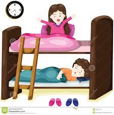 bunk beds clipart. Wonderful Bunk Little Kids On Bunk Bed In Bunk Beds Clipart S
