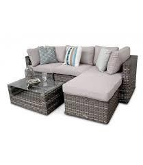 manchester rattan modular corner garden 5pc sofa set natural