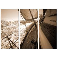 display gallery item 2 set of three sepia landscape canvas art bedroom 3106 display gallery item 3  on sepia canvas wall art with sailing boat canvas pictures 3 panel for your bedroom