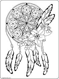 Small Picture Dream Catcher Adult coloring page dreamcatcher Pinteres