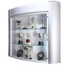 modern wall mounted trophy showcase