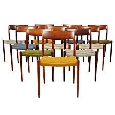 Niels Otto Moller Rosewood Dining Chairs in Original Woven Coloured Interesting Woven Dining Room Chairs