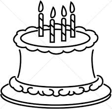 birthday cake clip art black and white. Wonderful White Birthday Cake Clipart Black And White In Clip Art