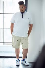 ぽっちゃりメンズの定番大きいサイズのポロシャツをすっきり着こなす