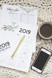 Get Organized With Our Free Printable 2019 Planner