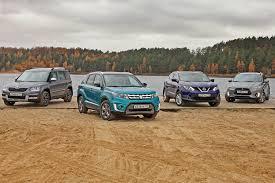 Сравнительный тест Suzuki Vitara, Skoda Yeti, Nissan Qashqai и ...