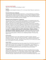 Resumes Template Example Of Resume Profile Name In High On Forudents