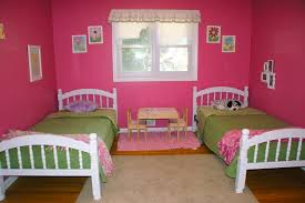 kids bedroom for twin girls. Bedroom:Prodigious Twin Girl Beds Combine Study Table Shared Kids Ideas With Cute Pink Walls Bedroom For Girls L