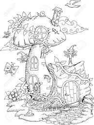 Coloring Pages Ideas Tree House Coloring Pages Ideas Black And