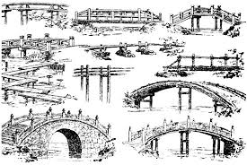 Small Picture Japanese Garden Bridge Drawing Home Design Ideas