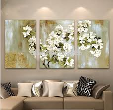large canvas wall art hand painted abstract white floral picture wall flower oil painting 3 panel canvas wall art modern home decoration sets on large 3 panel wall art with wall art designs large canvas wall art hand painted abstract white