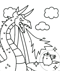 Picture Christmas Pusheen Coloring Pages Printable Coloring Page