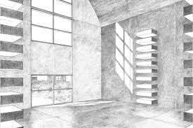 architecture. Simple Architecture Interior View Of 9 Meter Concrete Building Drawing By Claude Armstrong On Architecture A