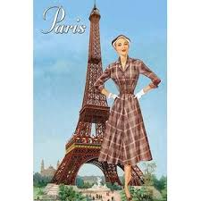 Pierce, Sara Model in front of the Eiffel Tower Poster Print by Sara Pierce  - Item # VARBLL0587212632