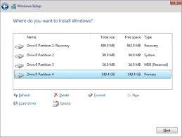 to format c drive in windows 10