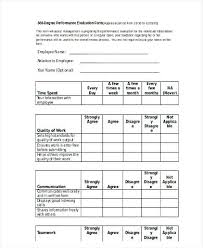 Employee Evaluation Form 360 Performance Appraisal Sample – Fitguide