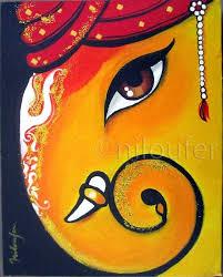 ganesha acrylics on canvas niloufer wadia ganesha drawingganesha paintingganesha artlord