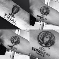 клаттенбург сделал татуировки в честь финалов лиги чемпионов и евро