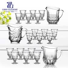 7pcs new designs high quality engraved drinking water set gb12082hh
