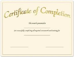 Certificates Of Completion Templates Create Free Certificate Completion Fill In The Blank Certificates