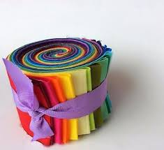 2.5 inch Rainbow Jelly Roll 100% cotton fabric quilting strips ... & Image is loading 2-5-inch-Rainbow-Jelly-Roll-100-cotton- Adamdwight.com
