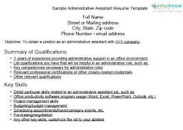 Executive Assistant Career Objective Administrative Assistant Objective Resume Medical Sample Skills