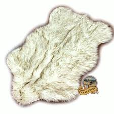 details about rug wolf bear faux fur sheepskin area rug white brown tips 5 x 7