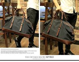 xiao p canvas leather men travel bags carry on luggage bags men duffel bags travel tote