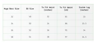 Hugo Boss Swim Shorts Size Chart Abu Pants Size Chart Www Bedowntowndaytona Com