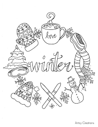 15 Idea Adult Coloring Pages Winter Karen Coloring Page