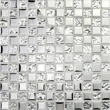 silver glass tile backsplash ideas