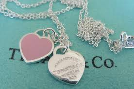 tiffany double heart necklace