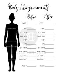 Timeless Body Measurement Chart Before And After 2019