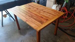 rustic table made from s wood great patio table easy