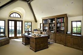 home office bookshelf ideas. Vaulted Ceiling With Exposed Beams Home Office Bookshelf Ideas Traditional