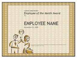 Employee Of The Week Certificate Template Printable Free Employee Of