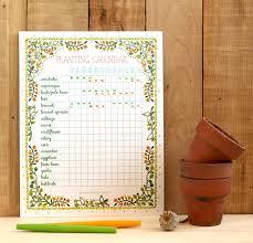 Planting Calendar Free Printable Planting Calendar A Piece Of Rainbow